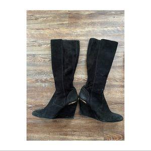 Tory Burch knee high kitten heel boots